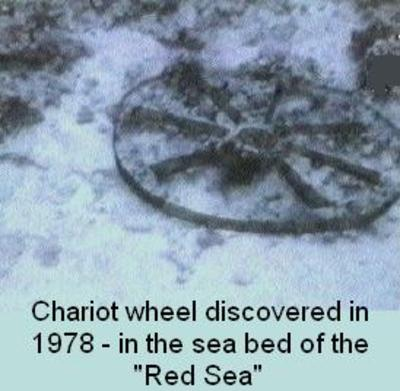 Chariot wheels found at bottom of red sea apologiaway httpmessianic literarychariotsm sciox Gallery